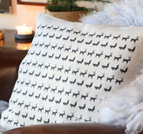 Porokulkue tyyny beige