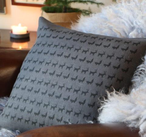 Porokulkue tyyny harmaa
